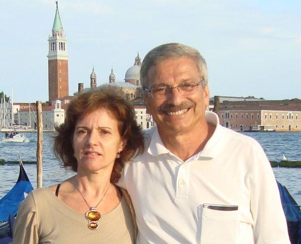 Adalton Batista e sua esposa Neuza em Veneza