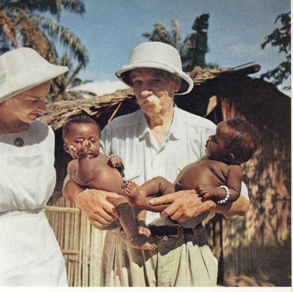 A ilustração é uma homenagem a um de meus heróis. Albert Schweitzer, músico que se tornou médico para trabalhar com os leprosos na África.